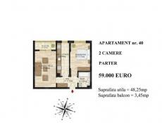 Vânzare apartament 2 camere  în Mihai Bravu