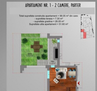 Apartament - 2 camere Stefan cel Mare
