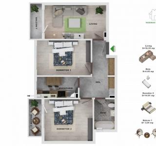 Apartament - 3 camere Titan